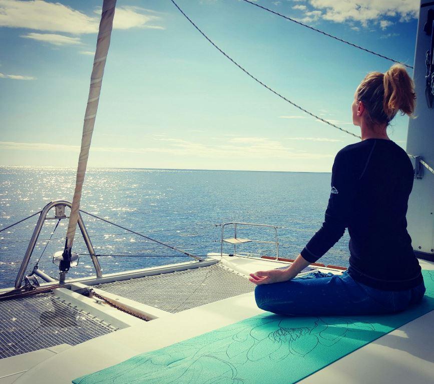 Yoga-sailing Yoga Katamaran