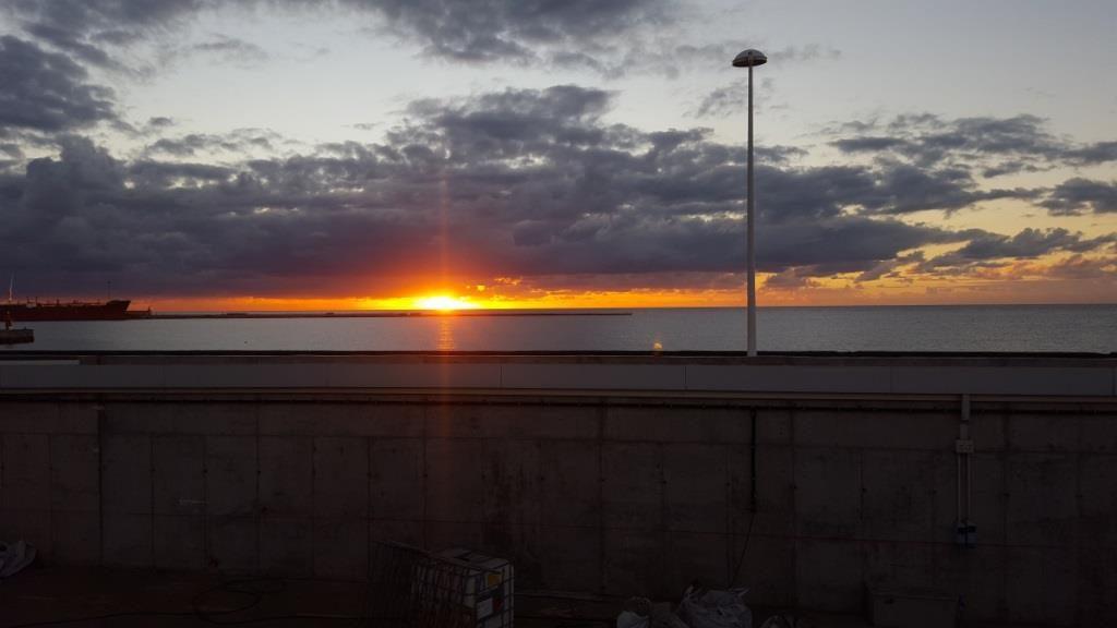 Arrecife, Sonnenaufgang Blick von unserem Balkon