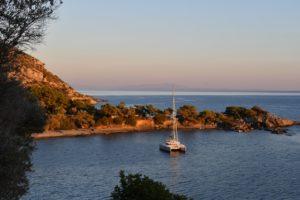 Parana II in Samos vor Anker